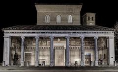 Basilica di San Lorenzo fuori le mura (TheRealFrancese) Tags: city light rome roma night dark verano sanlorenzo citt