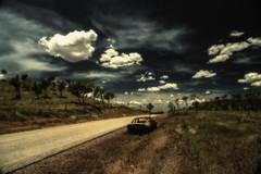 Rust in peace (erglis_m (Mick)) Tags: clouds contrast canon landscape interesting fineart australia l australianlandscape wavehill outbackaustralia centraldesert buntinehighway canoneos5dmkiii