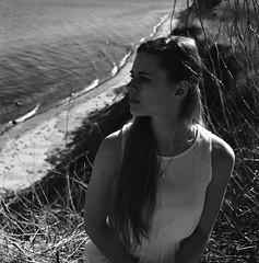 Anne (Juliet Alpha November) Tags: ocean sea bw cliff 120 6x6 film water analog anne coast meer wasser jan delta baltic sw medium format 100 analogue expired ostsee ilford steilkste mittelformat steilufer meifert seestdt