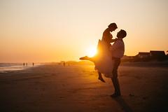 A Wedding (Wes Hicks) Tags: ocean wedding sunset beach silhouette groom bride coast marriage silloutte