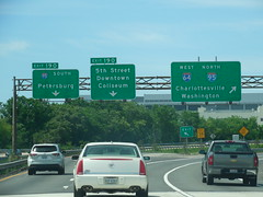 I 64-95 Signs (jimmywayne) Tags: sign virginia washington petersburg 64 interstate charlottesville 95 i95 henricocounty i