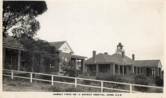 Murray Views No 13 District Hospital, Junee, NSW (Daddys 'lil Girl) Tags: postcard australia nsw historical 1949 wagga albury junee riverina
