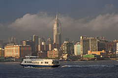 (ReadyAimClick) Tags: nyc newyorkcity travel sunset sunlight mist sunshine fog ferry skyline architecture clouds skyscraper canon buildings river boat cityscape outdoor manhattan esb hudsonriver empirestatebuilding nycskyline midtownmanhattan nycferry nycwaterway midtownmanhattanskyline