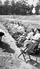 1944 Polio Girls in the sun (jackcast2015) Tags: braces wheelchair handicapped polio calipers braced infantileparalysis disabledwoman crippledwoman poliomylitis