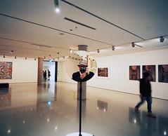 NGV Selfie (@fotodudenz) Tags: art film mirror gallery angle pacific kodak wide australia melbourne rangefinder super victoria national medium format portra 800 ngv 2016 mamiya7 43mm artofthepacific