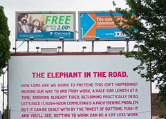 The Elephant in the Road (Orbmiser) Tags: signs building oregon portland spring nikon billboards d90 55200vr