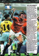 Manchester United vs Tottenham Hotspur - 1996 - Page (The Sky Strikers) Tags: old manchester spurs one official united review sharp trafford premier pound league fa tottenham premiership fifty programme carling hotspur