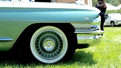 Some Old Cadillac's Side Front (mister_hashtag) Tags: blue green wheel de day panel turquoise teal front cadillac anderson quarter turbine ville creases larz 2016