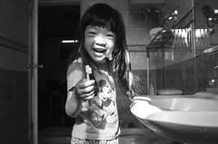 Brush My Teeth - Cute Child ( aikawake) Tags: travel light blackandwhite bw baby cute love smart wonderful naughty children fun mouse happy blackwhite kid micky funny child teeth happiness brush littlegirl   kidz      littlechild