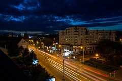 Rooftoping in Iasi, Romania (Iustin Ouatu) Tags: blue light sky rooftop car night composition cards lights high nice nikon europe view perspective dramatic explore trail romania nikkor iasi excursion discover nikond3200 d3200 rooftopping vsco rooftoping vscocam nikontop