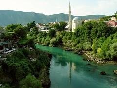 River Neratva, Mostar (Senol Demir) Tags: green river mostar bosnia ngc bosna neratva bosnahersek concordians eeecotourism