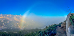 Mt Woodson Fog Rainbow (ihikesandiego) Tags: rock rainbow san mt diego hike potato chip woodson