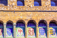 Palazzo Vecchio in Florence (valeriorosati) Tags: italy detail tourism grate florence gallery republic lily arms bricks arches medieval symbols fortress medici florentine palazzovecchio