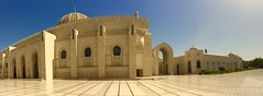 In the heat of the day (oobwoodman) Tags: panorama mosque dome marble oman muscat mosque grandmosque moschee