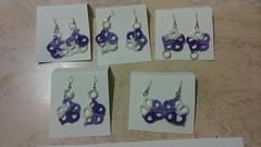 Orecchini con fiorellini e perline (Va lentina) Tags: orecchini chiacchierino