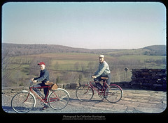 Setting Out for a Ride, April 1959 (Sherwood Harrington) Tags: bike country bicycles upstatenewyork 1959 earlyspring chenango vintageslide kingsettlement lynnharrington