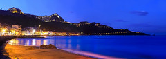 Panoramica Nottura di Giardini Naxos e Taormina (Marco Crupi Visual Artist) Tags: sea italy night landscape lumix landscapes italia mare panasonic sicily fotografia taormina notturna sicilia giardininaxos fotografianotturna lumixgx80