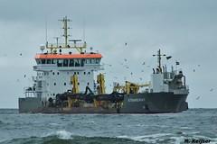 Boskalis Strandway (Romar Keijser) Tags: sign strand de call nederland cyprus hopper texel imo dredger schip bagger koog mmsi baggerschip boskalis strandway zuighopper 9664457 212396000 5bzj3