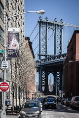 Manhattan Bridge from Front Street, Brooklyn, New York 1 (Steven J Parkes) Tags: newyorkcity newyork brooklyn manhattan manhattanbridge frontstreet canon5dmkii