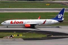 Lion Air | Boeing 737-900ER | PK-LJO | 60th 737 logos | Singaproe Changi (Dennis HKG) Tags: plane canon airplane airport singapore aircraft sin 7d boeing changi jt 737 planespotting boeing737 wsss 737900 100400 lni lionair 737900er boeing737900 boeing737900er pkljo