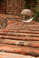 Ball on the Wall (sharongellyroo) Tags: essex crystalball flatfordmill outingswithclare