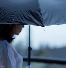 Tears (Janey Song) Tags: people woman umbrella tears raindrops selfie vancouvercanada ef85mmf12liiusm canon5dmarkiii