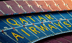 Camp Nou (marco.giordana) Tags: barcelona light sunset golden football stadium soccer airways emotions qatar fav10