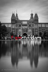 I amsterdam (Justy.C) Tags: blackandwhite netherlands amsterdam iamsterdam thenetherlands nl rijksmuseum noordholland urbanphotography selectivecoloring artsquareamsterdam
