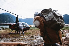 adventure time (ben giesbrecht) Tags: lake canada vancouver bc adventure explore helicopter bags pitt langly