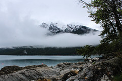 The clouds rolling in (myphotothrowaway) Tags: mountain lake mountains hiking lakes glacier louise alberta rivers backcountry banff canmore