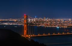San Francisco - Night Skyline at Sylvester (tom_stromer) Tags: california bridge skyline night golden nikon gate san francisco cityscape sylvester d5100