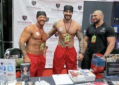 IMG_3879 (danimaniacs) Tags: shirtless man hot sexy smile pecs hat tattoo beard muscle muscular hunk cap stud scruff dragcon