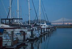 Pier 39 Bridge View (dannyloera) Tags: pier39 boats pier sf bridge sanfrancisco sunset water light reflection blue