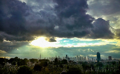 20120606_NYCskyline (jae.boggess) Tags: nyc newyorkcity newyork skyline clouds storm cemetery queens