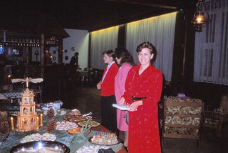 West Germany   -   HerbornSeelbach   -   Damen Kaffee at the OHG (Offene Handelscesellshaft)    -    Aartal Kaserne   -   Catherine, Juanita & Frau Schaffer    -    8 December 1989