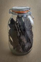 Jerky stored in air tight jar (KOOEE Snacks AU) Tags: tasmania australianlandscape jerky beefjerky foodphotography tasmanialandscape tasmanianjerky australianjerky bulkjerky storedjerky jarjerky