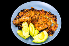 Cheesy chicken Maryland with avocado (garydlum) Tags: chicken cheese avocado chives springonion