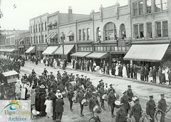 91st Battalion, C.E.F. Brass Band Marching East on Talbot Street, St. Thomas, June 25, 1916 (Elgin County Archives) Tags: elgincountyarchives stthomasontario 91stbattalion canadianexpeditionaryforce firstworldwar worldwari