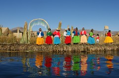 Uros island on Lake Titicaca (phil.photo61) Tags: reflection peru titicaca colors singing