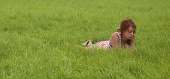 Girl in the Grass - Glastonbury Festival (wentloog) Tags: uk camp england music girl field grass festival wales canon eos pyramid britain outdoor farm stage cymru cardiff glastonbury somerset caerdydd 5d agriculture glastonburyfestival worthy pyramidstage pilton 2016 worthyfarm wentloog stevegarrington