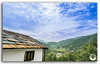 Idyllic landscape of the Janjehli valley and multicolor roofed hut! (FotographyKS!) Tags: wood old travel roof urban india house mountain building green texture abandoned home broken nature beautiful grass rock horizontal architecture clouds rural forest trekking trek landscape outdoors photography town wooden nikon colorful arch exterior natural stones background empty rustic ruin meadows bluesky nobody structure lodge haunted hills tokina tropical uphill archeology nikondigital mothernature himalayas himachalpradesh naturephotography travelphotography ultrawideangle beautyinnature natureabstract janjehli photoborder lushgreenery tokina1116mmf28 naturebackground 1116mmf28 janjehlivalley