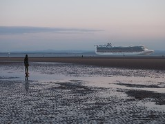 Another Place - Caribbean Princess (flamesworddragon) Tags: anotherplace crosby beach sefton siranthonygormley gormley