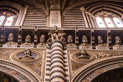 Siena - Cathedral Busts of 172 Popes Above Both Sides of Nave 2 (Le Monde1) Tags: city horses italy nikon cathedral unesco worldheritagesite nave rivers tuscany siena stmary elsa palio 172 popes busts pilgrims piazzadelduomo d610 arbia santamariaassunta merse viafrancigena lemonde1