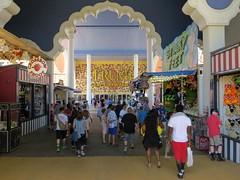 Steel Pier Entrance (Multielvi) Tags: new city vacation people amusement pier steel nj taj mahal casino atlantic shore jersey boardwalk trump