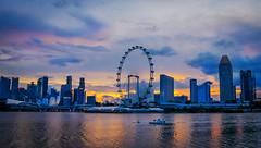 Sunset sky (elenaleong) Tags: singapore cityscape tgrhu elenaleong