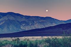 Is This Earth? (matthewkaz) Tags: california moon mountains sunrise desert deathvalley salinevalley moonset 2014 inyomountains