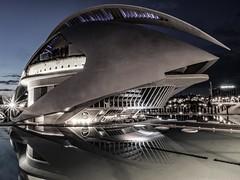 Shark or Opera (stefan.lafontaine) Tags: city las santiago valencia de y arts ciudad olympus calatrava stadt der artes sciences wissenschaft ciencias em1 lhemisfric