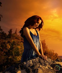Sunset #photoshop #ps #manipulation #sunlight #sunset #girl #mountain #horizon #twilight (ahmedmuntasir) Tags: sunset sunlight mountain girl photoshop twilight horizon manipulation ps