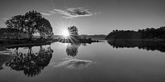 Lindy, Norway (Vest der ute) Tags: trees seascape norway clouds sunrise reflections landscape mirror rogaland fav25 fav200 g7x skancheli ryksund