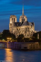 An evening by Notre Dame (TaylorH22) Tags: nightphotography bridge paris france church seine river other nikon flickr places notre dame d500 1685 typesofphotos theunforgettablepictures